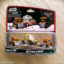 Disney PIXAR Cars STAR WARS Luigi as C-3PO & Pitties as JAWAS diecast Parks ONLY