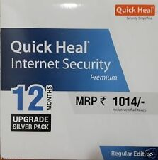 Quick Heal  internet Security 1 User 1 Year Renewal Upgrade Pack 1PC 1Year