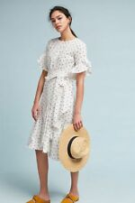 NWT ANTHROPOLOGIE CYNTHIA ROWLEY RUFFLED DRESS- SIZE XS