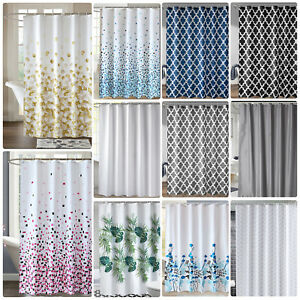 Extra Long Shower Curtain Waterproof Polyester Bathroom Shower Curtain with Hook