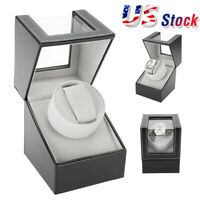 Single Automatic Rotatic Wood Watch Winder Wristwatch Display Box Storage Case