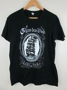 Gegen The Wind TV Promo Mens T Shirt Size M Crew Neck Black Road Rodeo
