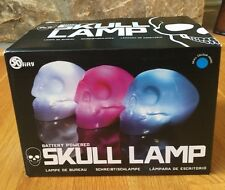 50 Fifty Skull Table Top Lamp Blue New in Box