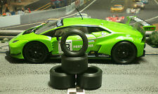 1/32 URETHANE SLOT CAR TIRE 2pr PGT-20126LM fit CARRERA Lambo Huracan GT3