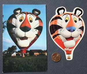 1980s Era Kellogg's Tony the Tiger Hot Air Balloon postcard diecut sticker set!