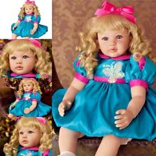 Blonde Baby Girl Doll Toddler Reborn Realistic Dolls Toys Lifelike Gifts Babies