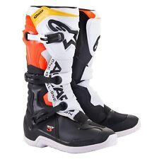NEW Alpinestars Tech 3 MX Motocross Boots - Black/White/Red Flo