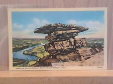 Linen post card, Umbrella Rock on Lookout Mountain, Chattanooga, Tennessee