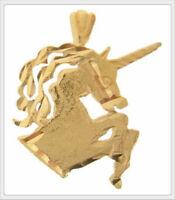 14K Yellow Gold Unicorn Pendant/Charm