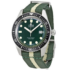 Oris Divers Sixty-Five Green Dial Automatic Mens Textile Watch 01 733 7720