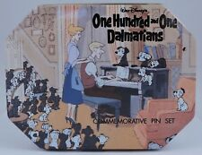 Disney's One Hundred and One Dalmatians Commemorative Tin Box Pin Set New 6 pins