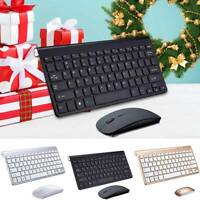 2.4G Waterproof Wireless Keyboard Mouse w/ USB Receiver For Mac Apple Pc Laptop