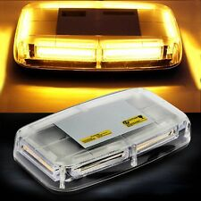 COB LED Amber Strobe Top Roof 48W Emergency Light Bar Warning Lamp Magnetic Base