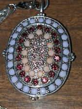 Vintage monet jewelry necklace necklace turtle mosaic tile rhinestones silver