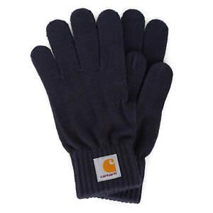 Carhartt wip watch Gloves Dark Navy - Men's winter Knitted Gloves
