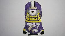 DESPICABLE ME MINION WASHINGTON STATE FOOTBALL PLAYER  HUSKIES EMBROIDERED PATCH