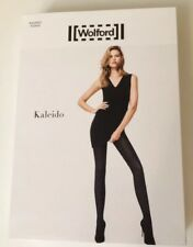 WOLFORD KALEIDO Tights Pantyhose MIDNIGHT Sz L NIP 14621 Fits Size 14/16