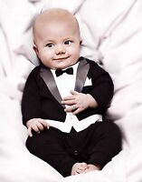 New Baby Boy Smart Outfit 3D Print tuxedo Special Occasion Wedding Birthday gift