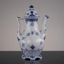 Royal Copenhagen Coffee Pot Blue Fluted Full Lace 1202 Denmark
