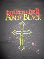 2009 HEAVEN & HELL Bible Black Concert Tour (LG) Shirt RONNIE JAMES DIO SABBATH