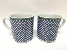 "Villeroy & Boch Switch 3 Castell Checkerboard Set/2 Coffee Mugs 3 3/8"""
