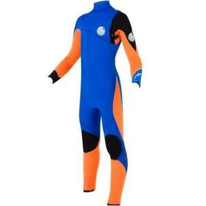 RIP CURL Youth 4/3 FLASH BOMB Zip Free Wetsuit - BLU  Size 8 - NWT LAST ONE LEFT