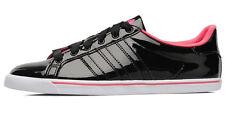 adidas Court Star Slim W Size 9.5 Black RRP £60 BNIB Q23159