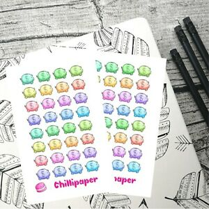 Kawaii piggy banks, Planner Stickers, Save money, Erin Condren, Happy planner,