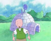 DOUG FUNNIE Original Production Cel Cell Animation Art 1990s Nickelodeon Igloo