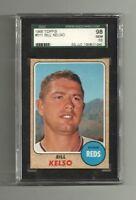 1968 BILL KELSO - SGC 98 GEM MINT 10 TOPPS #511 - CINCINNATI REDS POP 3 HIGHEST