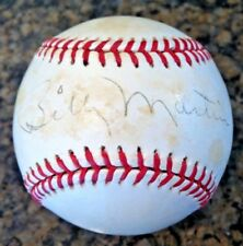 BILLY MARTIN, New York Yankees, single signed OAL Bobby Brown Baseball