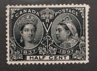 #50  - Canada - 1897 -  ½  Cent - Used  -  VF -  superfleas