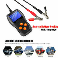12V Motorcycle&Car Tester Tool Color Screen Battery Analyzer Testing System