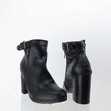 Women's Nature Breeze Shoes Black Ankle Bootie Heels Size 6 M NEW!