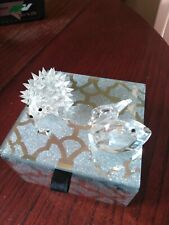 More details for swarovski crystal hedgehog, swan. and mirrored box used box is not swarovski.