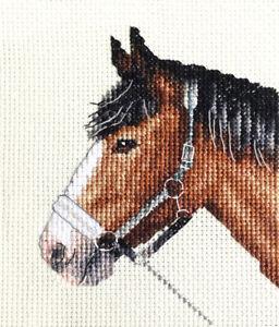 Chestnut HORSE pony  Full cross stitch kit  all materials Fido Stitch Studio