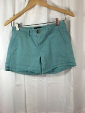 American Eagle Shorts Juniors Womens Midi Size 00 Teal Blue Green Stretch Pocket