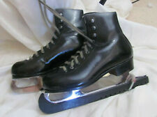 Riedell Black Leather Figure Ice Skates Youth Children Boys Girls Size ?