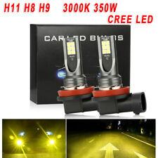 DC12V-24V 3000K 350W H11 H8 H9 Car Yellow LED Fog Lights Conversion Bulbs Lamps