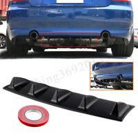 Nero di carbonio 5 pinna auto più basso Spoiler posteriore corpo paraurti diffus