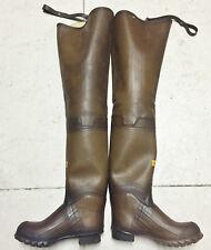 Very Rare Vintage Lacrosse Brown Rubber Hip Waders Boots US9 UK8 EU42 Watstiefel