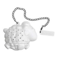 Tovolo Sheep Tea Infuser Steeper White Silicone Stainless Steel Fun Novelty Gift