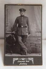 Militaria Cabinet Foto Soldat Uniform um 1900  Amberg