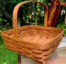 1989 Lh Longaberger Woven Basket Oblong Big!