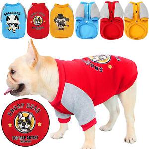 UK Small Pet Fleece Bulldog Coat Clothes Funny Warm Dog Jacket Jumpsuit Pajamas