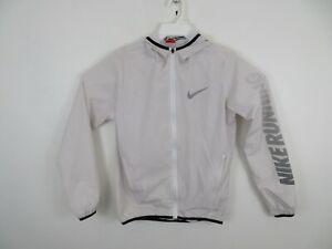 Nike Running Rain Jacket Hooded Ivory Athletic Fit Pocket Womens Size Medium