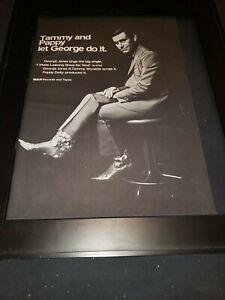 George Jones I Made Leaving Easy For You Rare Original Promo Poster Ad Framed!