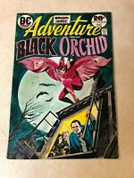 ADVENTURE #428 art cover color guide KEY 1973 Origin 1st BLACK ORCHID