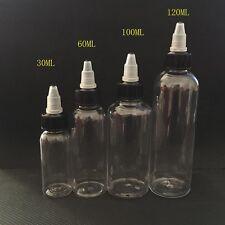 30ml 60ml 100ml 120ml bottle twist cap pet plastic liquid Dropper Bottle
