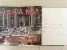 Gina Lollobrigida SIGNED Photography 1983 Book  Italia Mia Amazing Photos HC/DJ